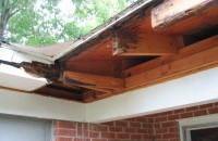Rotted eave edge